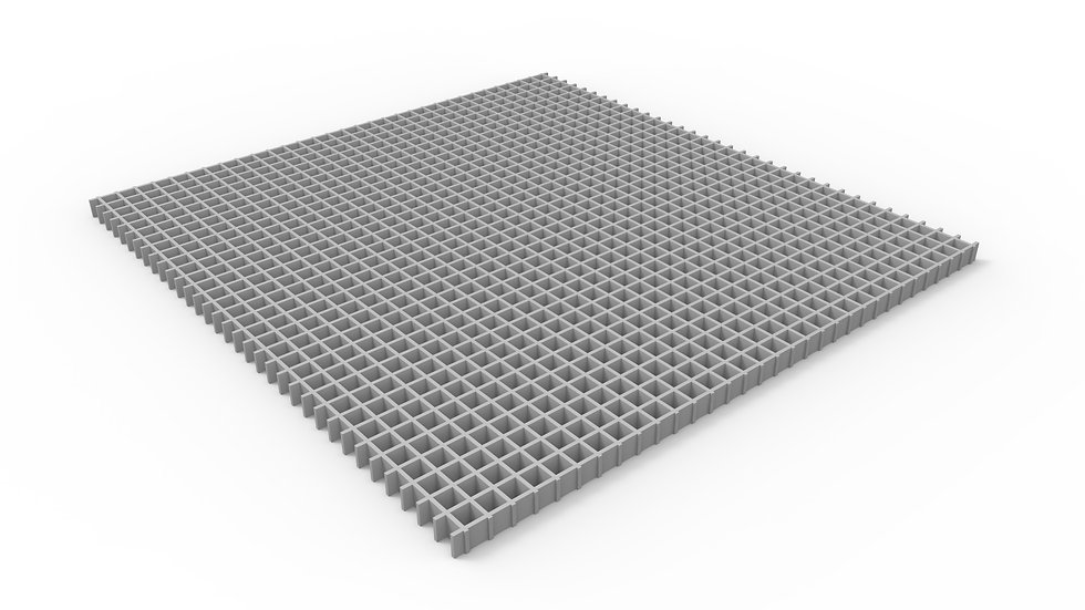 "50"" wide fiberglass mesh trench drain grate"