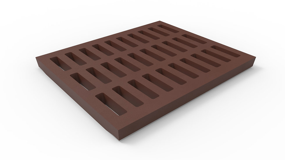 "20"" wide cast iron slotted trench drain grate"