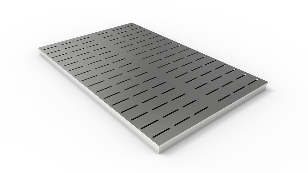 """38"""" wide ADA/Heel proof stainless steel slotted trench drain grate"""