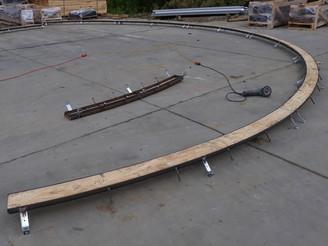 A true curved linear drain!