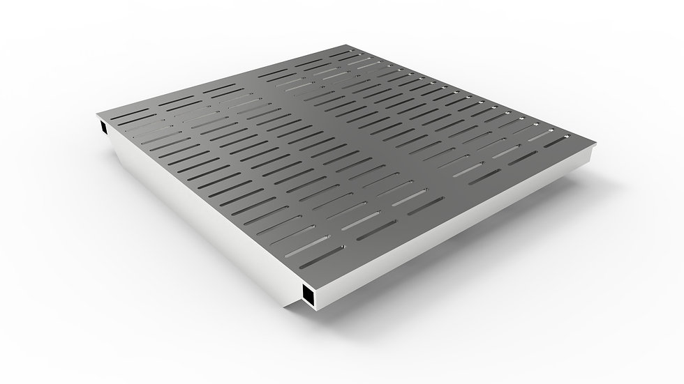 """26"""" wide ADA/Heel proof stainless steel slotted trench drain grate"""