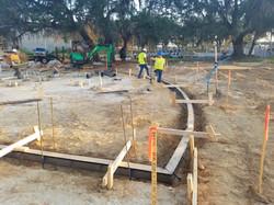 Prefabricated radius trench drain