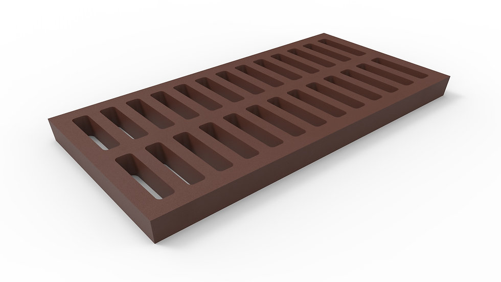"12"" wide cast iron slotted trench drain grate"