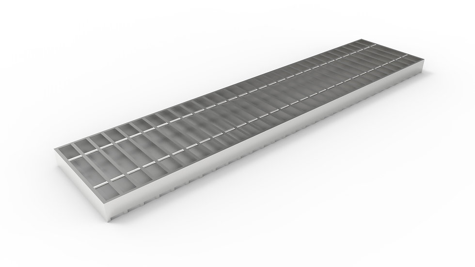 "8"" wide stainless steel trench drain bar grate"