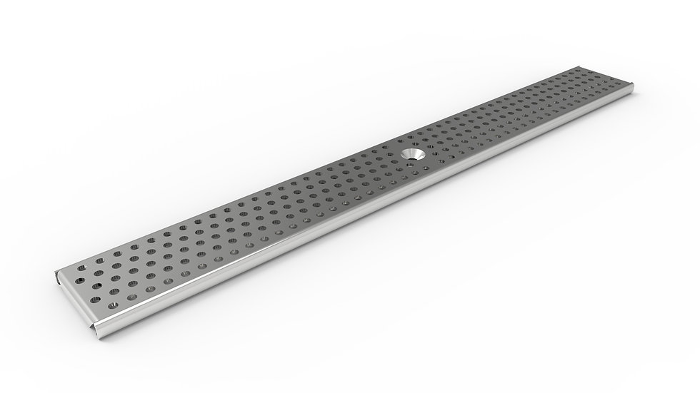 "3"" wide perforated stainless trench drain grate"