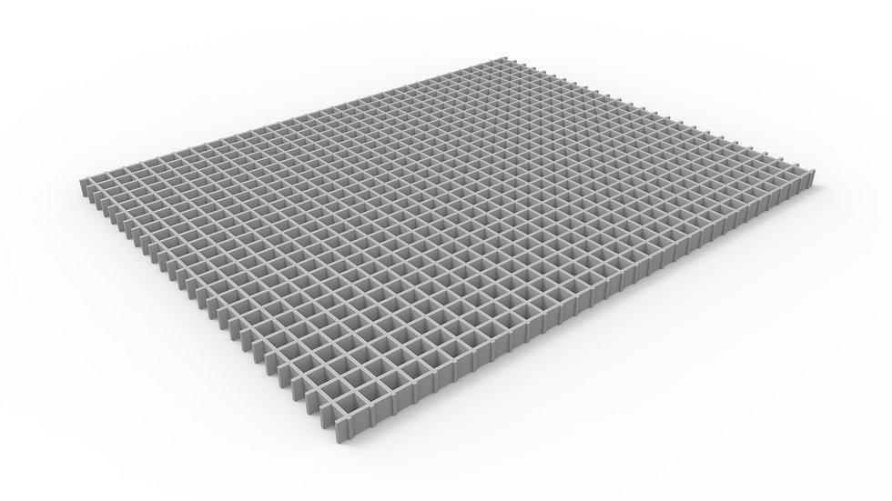 "38"" wide fiberglass mesh trench drain grate"