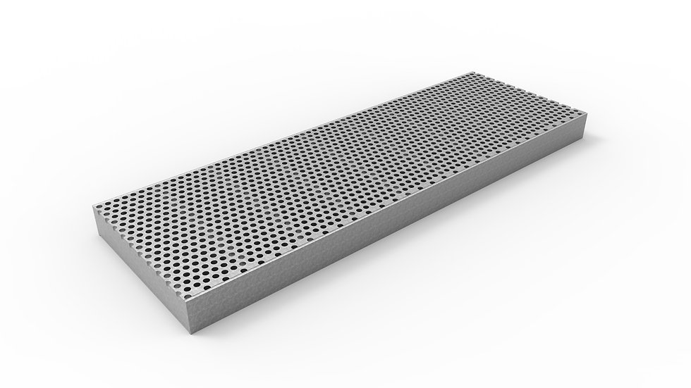 "8"" wide galvanized perforated trench drain grate"