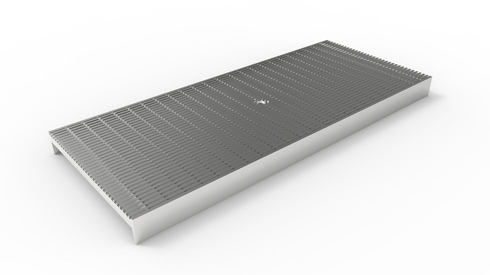 """10"""" wide stainless mesh trench drain grate"""