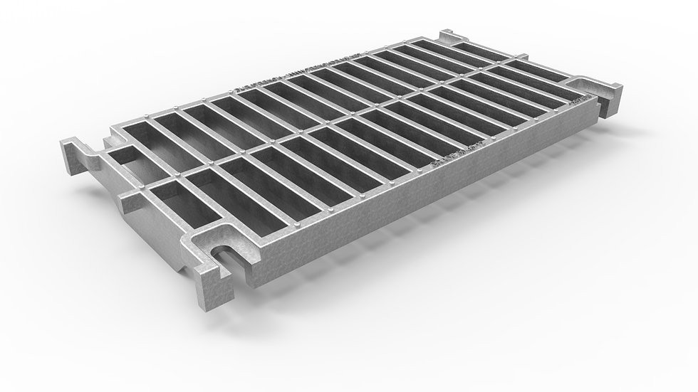 "14"" wide galvanized iron slotted trench drain grate"