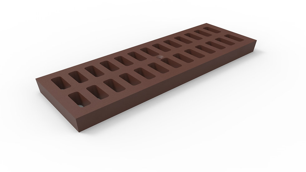 "8"" wide cast iron slotted trench drain grate"