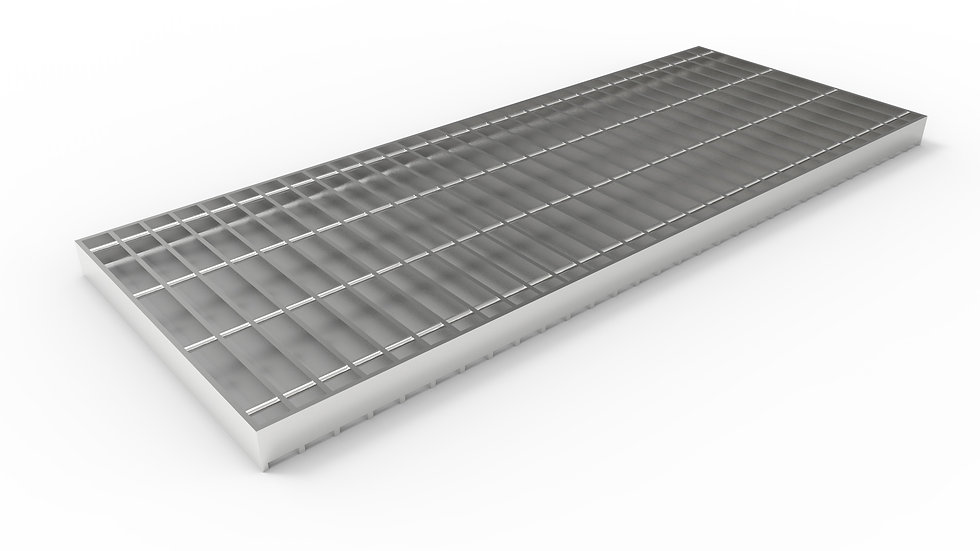 "14"" wide stainless steel trench drain bar grate"