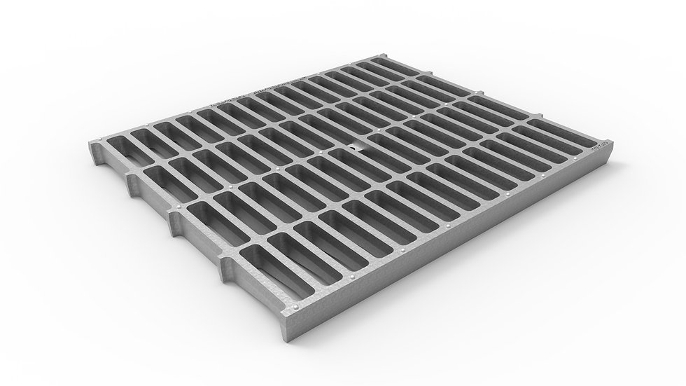 """20"""" wide galvanized iron slotted trench drain grate"""