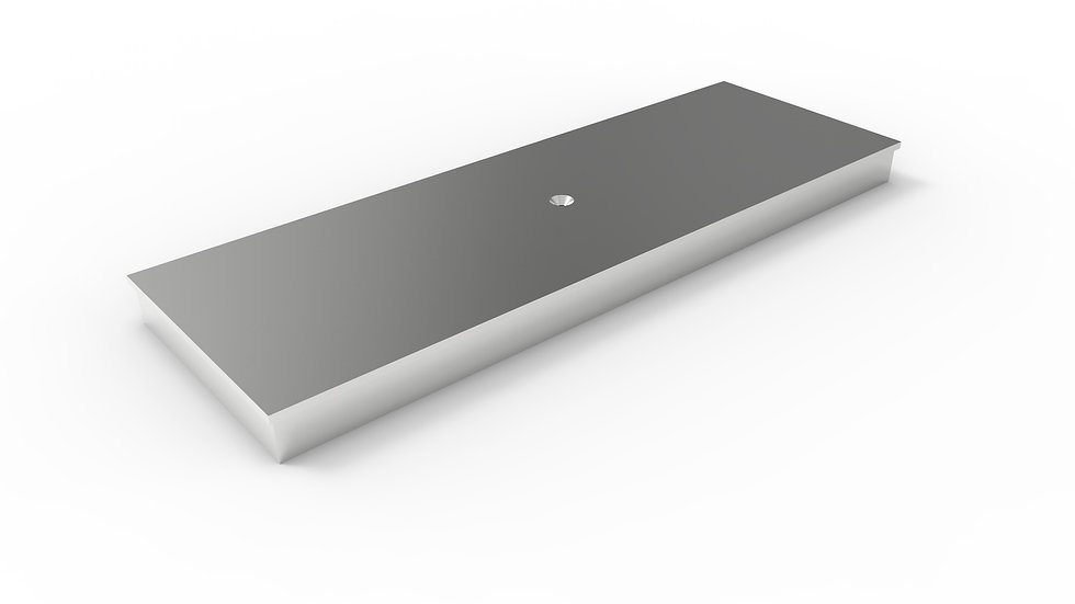 """8"""" wide stainless solid trench drain cover"""
