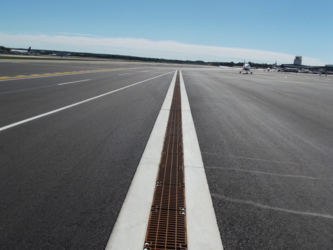 Portland Airport trench drain