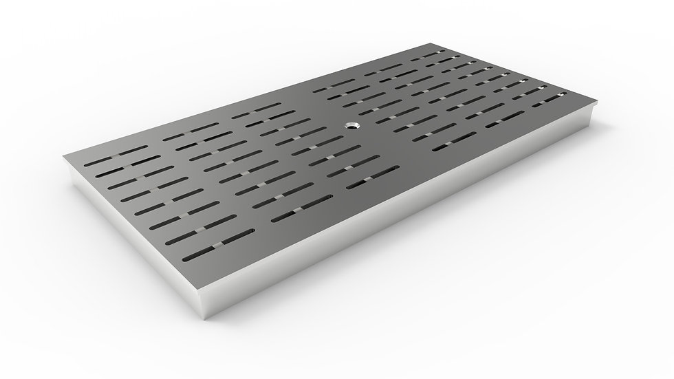 "12"" wide ADA/Heel proof stainless steel slotted trench drain grate"