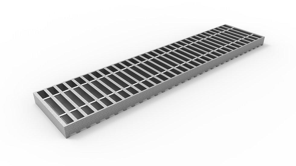 """8"""" wide galvanized steel bar grate"""