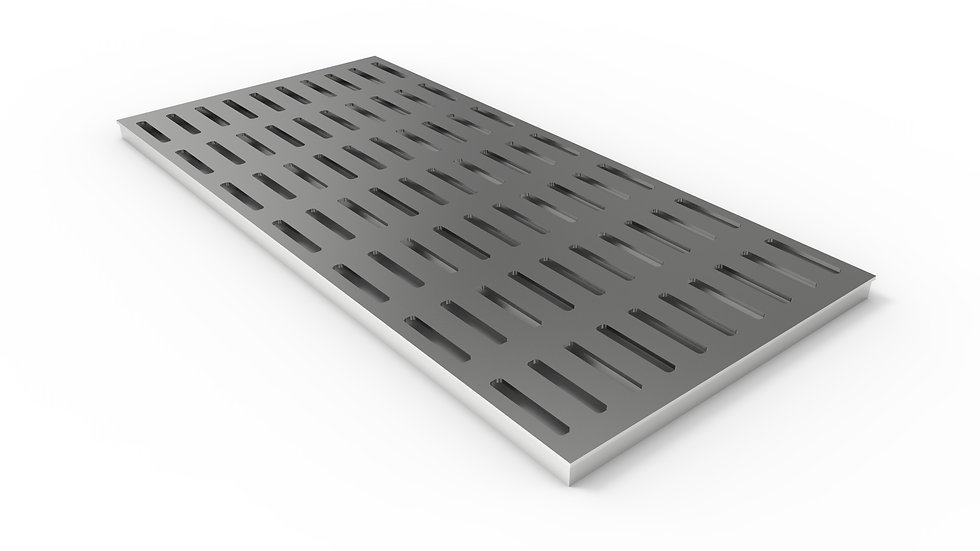 "50"" wide stainless steel slotted trench drain grate"