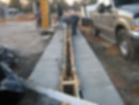 This picture shows how to form a concrete trench drain