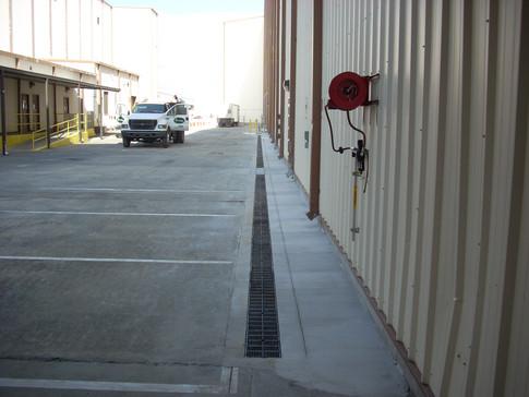 Hangar trench drains at Robbins AFB