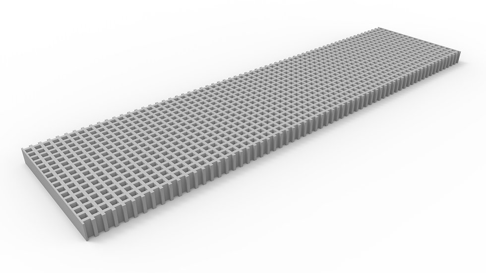 "12"" wide ADA compliant fiberglass mesh trench drain grate"