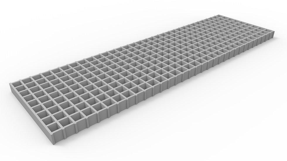 "14"" wide fiberglass mesh trench drain grate"