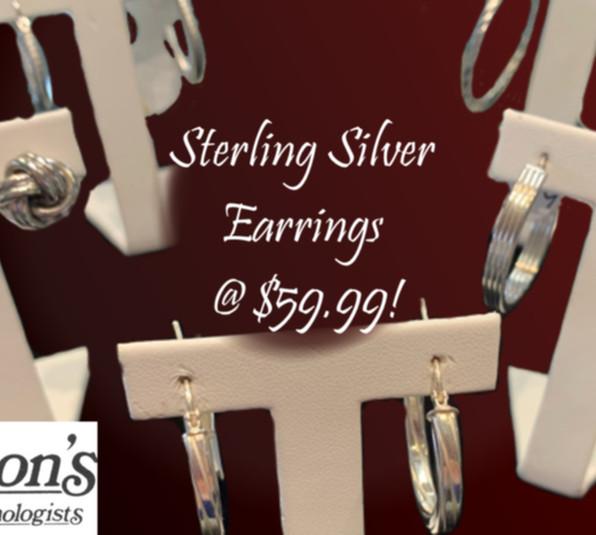 Sterling Silver Earrings Selection: $59.99!!