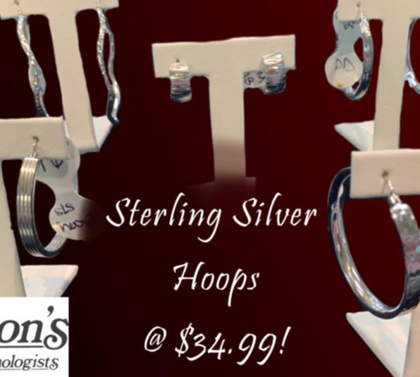 Sterling Silver Earrings Selection: $34.99!!
