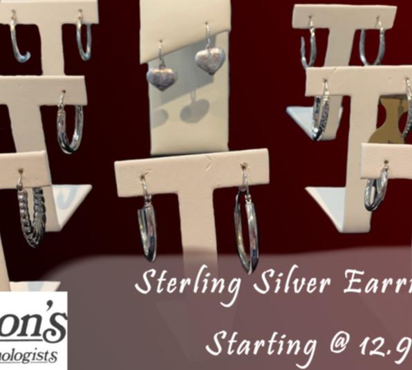 Sterling Silver Earrings Selections: $12:99!!