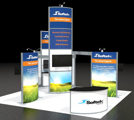 Softek Silicon Prairie Trade Show Booth