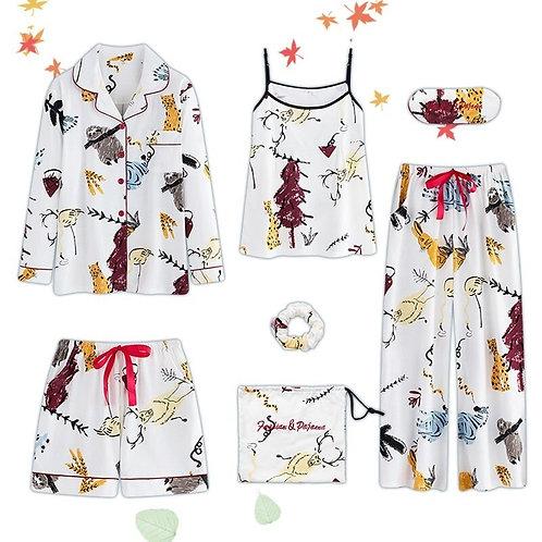 Ladies Pyjamas 2019 Women Pajamas 7 Piece