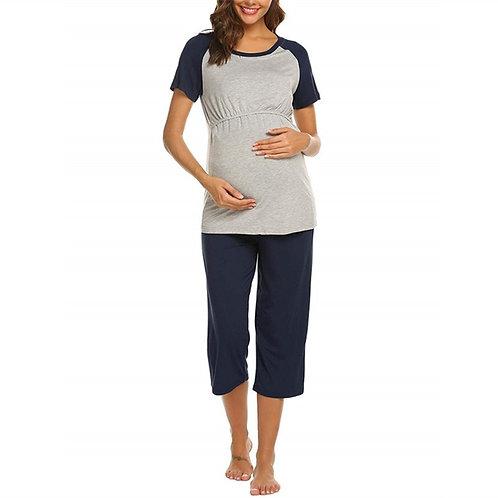 2019 Short Sleeve Pregnant Woman Pajamas