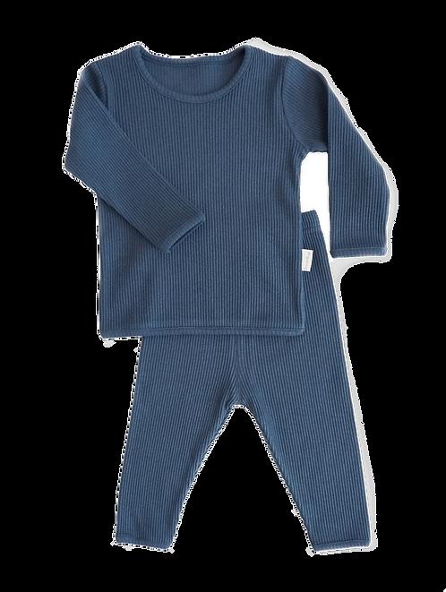 Midnight Blue  ribbed Loungewear
