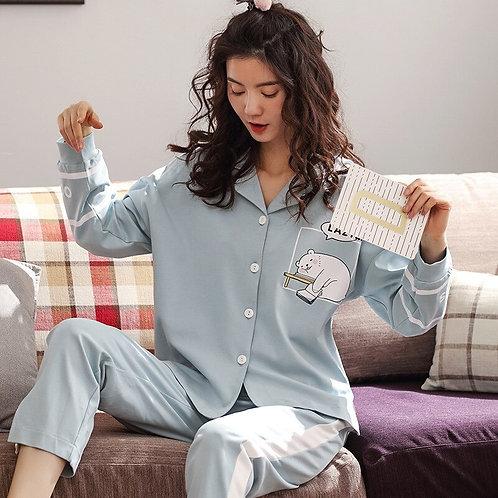Autumn 2019 New Cotton Pajamas Comfortable