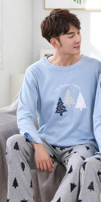 2019 Home Couple Pajamas Autumn Long Sleeve