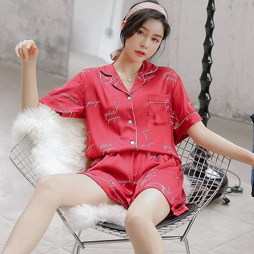 Summer 2019 Fashion Letter Printing Pajamas