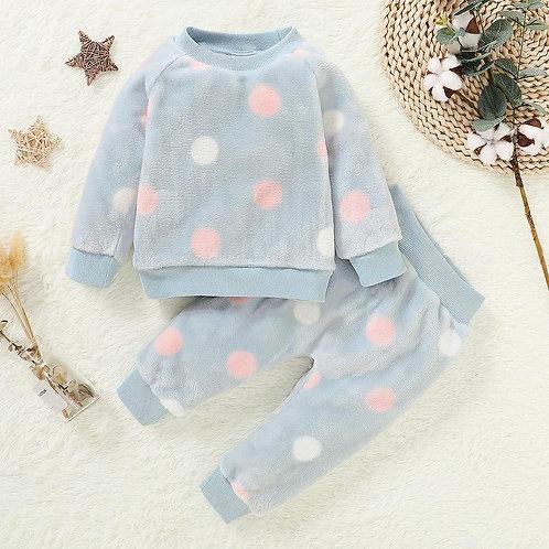 Baby Girl Clothes Pajamas Set Flannel Fleece Infant Toddler O Neck