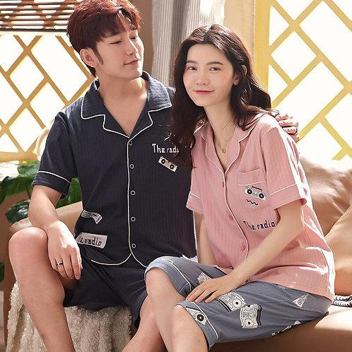 2019 Couple Pajamas Korean Version Cardigan