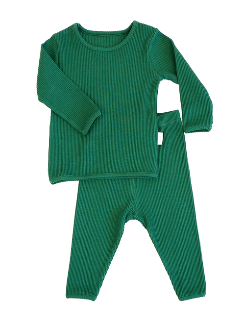 Forest Green ribbed Loungewear