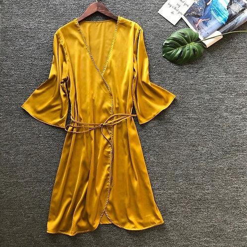 Women Robe Satin Sleepwear Robes Female