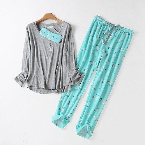 Autumn Women Pajama Cotton Pyjama Sets Sleep