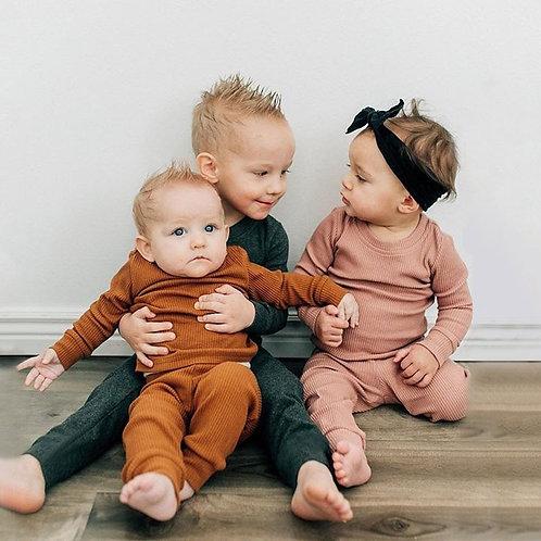 Minimalist Earth Tone Kids Pjamas   Children Sleepwear