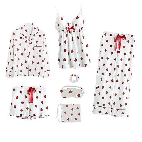 Womens Pajamas Sleepwear with Chest Pads