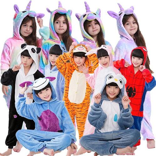 Unicorn Pajamas Boy Romper Girl's One-Piece  Pajamas  Cartoon Animal