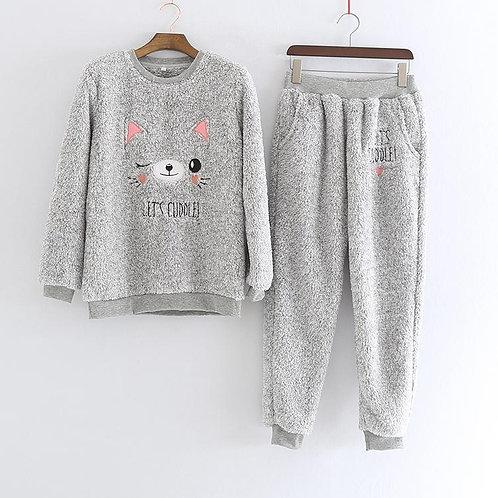 Womens Dreaming Cat Pyjamas