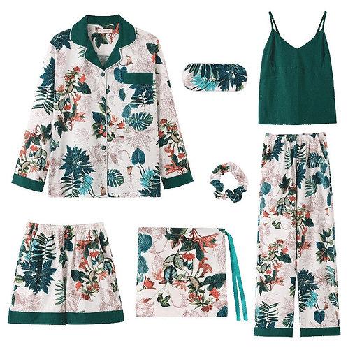 2019 New Pajamas Women Cotton Pyjamas Set