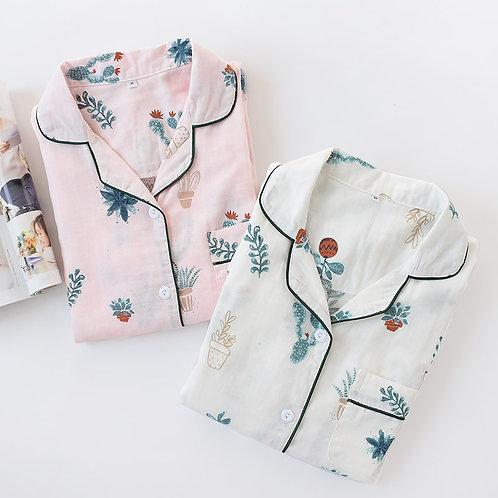 Simple Style Lovely Print Pajamas Women