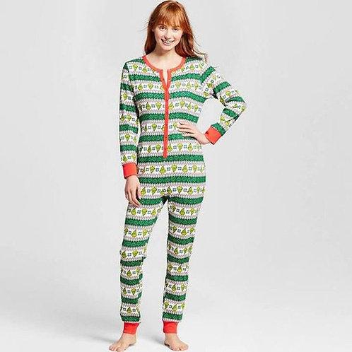 Family Matching Christmas Pajamas Jumpsuit Striped