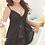 Thumbnail: Sexy lingerie black suspenders lace fake two sexy pajamas set (black