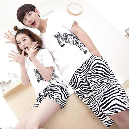 Couple Pajamas 2019 Short Sleeve Loose