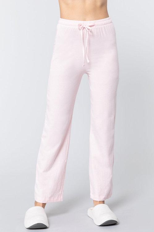 Solid Cotton Pajama Pants